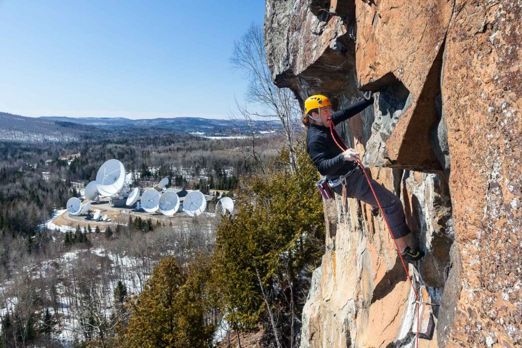 Simon Brunette on an early season attempt of Biorythme 12d(credit Patrick Cadieux)