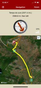 rakkup navigates care to crag then dispalys a picture when arriving at destination.